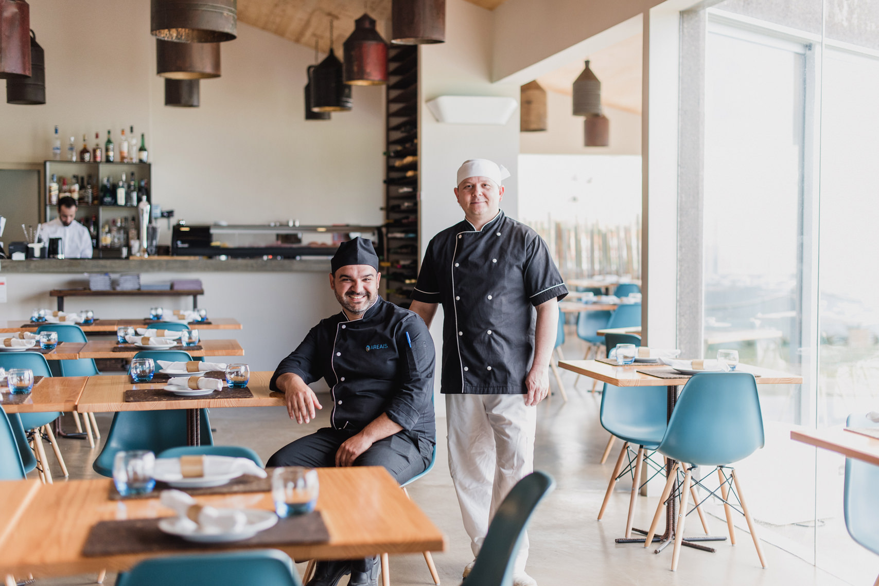 Head chefs at Santa Barbara Eco-Beach Resort, Azores, Portugal